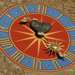 Medieval clock on the tower — Stockfoto