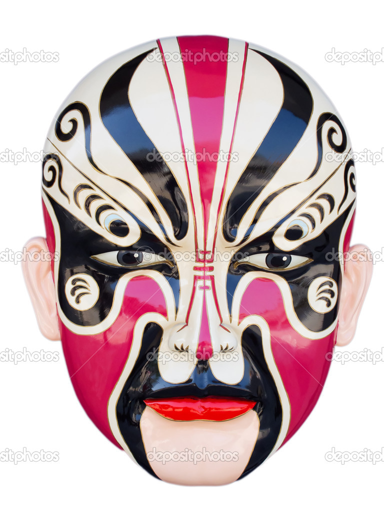 Traditional chinese opera mask isolated on white — Stock Photo #5247731
