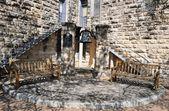 Georgetown texas innergård i skuggorna — Stockfoto