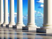 Ancient columns at coast — Stock Photo