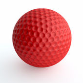 Red golf ball — Stok fotoğraf