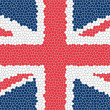 Union jack mosaic — Stock Photo