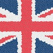 Union jack mosaic — Stock Photo #4169019