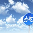 Roadsign bicycle — Stock Photo #4235851