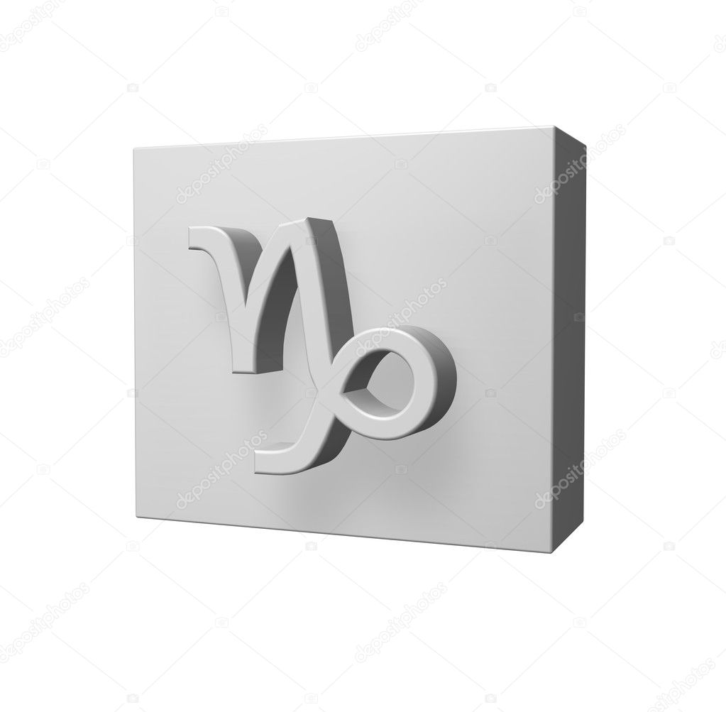 Asterisk capricorn symbol on white background - 3d illustration — Stock Photo #4285736