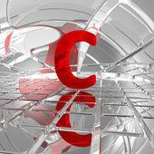 C in futuristic space — Stock Photo