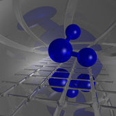 Molecola di h2o — Foto Stock