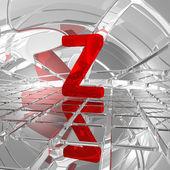 Z in futuristic space — Stock Photo