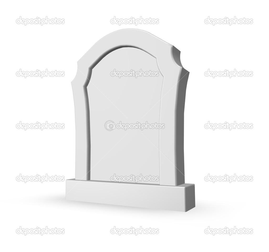 Gravestone on white background - 3d illustration — Stock Photo #4480824