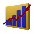 Stock Photo: Business chart