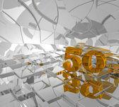 Altın sayı elli — Stok fotoğraf