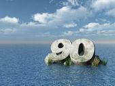 Ninety monument — Stock Photo
