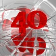 Stock Photo: Red number Forty