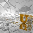 Golden letter u — Stock Photo