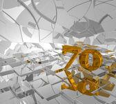 Golden seventy — Stock Photo