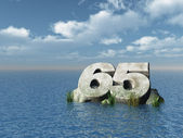 Sixty five — Stock Photo