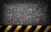 Grunge background with warning bar — Stock Photo