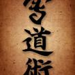 Stock Photo: Kai Do Jitsu karate style hieroglyph.ORIGINAL Background