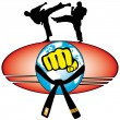 Martial art World Cup colored simbol. Vector. — Stock Photo