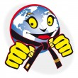 Постер, плакат: Humor original symbol martial arts world cup tournament