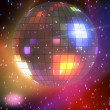 Discoball glowing — Stock Photo