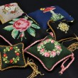 Stock Photo: Pillows with embroidery handiwork