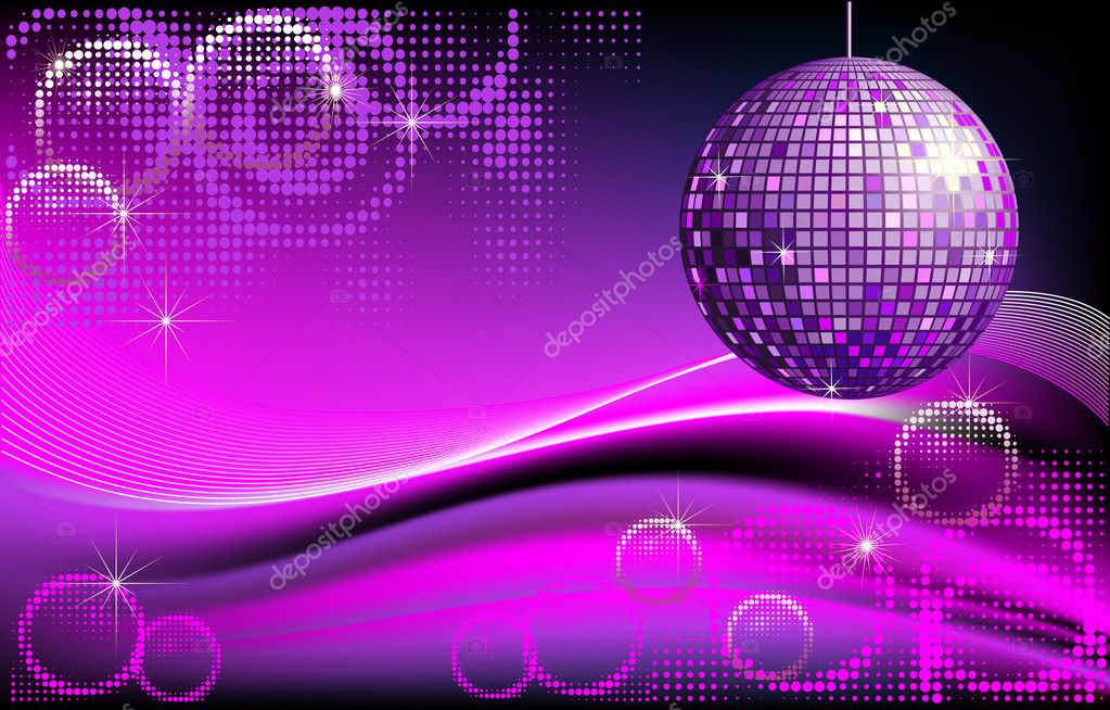 Disco ball background stock vector surovtseva 5240026 - Bola de discoteca ...