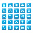 Stock Vector: Icon Iconset Travel Holidays