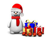 Santa Snowman — Stock Photo