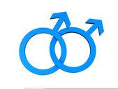 Homosexuální gay symbol — Stock fotografie