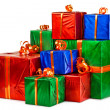 Gift boxes in stock — Stockfoto
