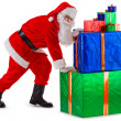 Santa&#039;s hard work - Stock Photo