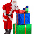Santa Claus in thought and serious - Stock Photo