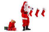 Aufgabe des Weihnachtsmanns — Stockfoto