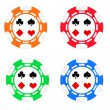 Poker chips — Foto Stock