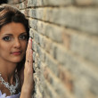 The bride at a wall — Stock Photo #3940239