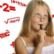 The girl and mathematical formulas — Stock Photo #3940248