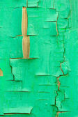 Fence with an old paint green color — Stock Photo
