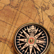Old compass and map — Stock Photo #4192936