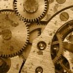 Rust mechanism of analog hours — Stock Photo #4193029