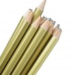 Whole and broken pencils — Stock Photo