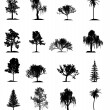 Set of trees — Stock Photo