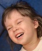 Children's laughter — Stock Photo