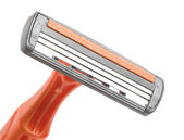 Closeup disposable razor — Stock Photo