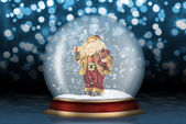 Glass sphere with Santa Claus — Stock Photo