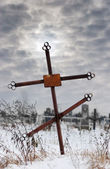 старый крест — Стоковое фото