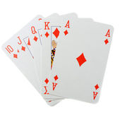 Poker combination isolated — Stock Photo