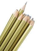 整个和折断的铅笔 — 图库照片