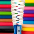 Foto Stock: Fastener from color pencils