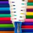 Fastener from color pencils — Foto Stock
